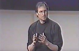 steve jobs presenting marketing strategy